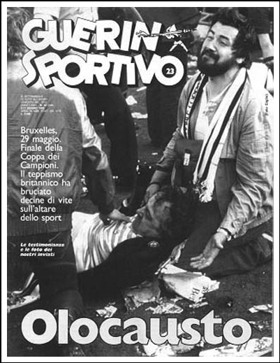La Copertina del numero del Guerrin Sportivo relativo alla strage